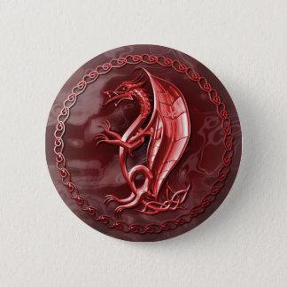 Red Celtic Dragon Button