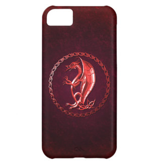 Red Celtic Dragon Case For iPhone 5C
