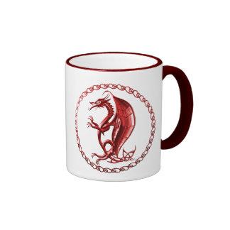 Red Celtic Dragon Coffee Mug