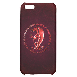 Red Celtic Dragon Cover For iPhone 5C