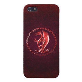 Red Celtic Dragon Cases For iPhone 5