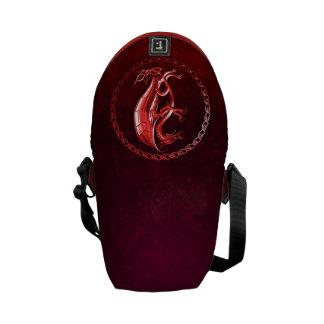 Red Celtic Dragon Messenger Bag