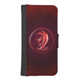 Red Celtic Dragon iPhone 5 Wallet Cases