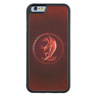 Red Celtic Dragon Carved® Maple iPhone 6 Bumper Case