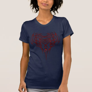 Red Celtic Heart Knot T Shirts