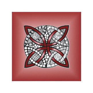 Red Celtic Knot Original Art Canvas Print