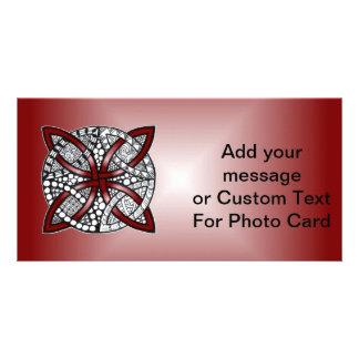 Red Celtic Knot Original Art Card