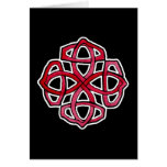 Red Celtic Knotwork Circle