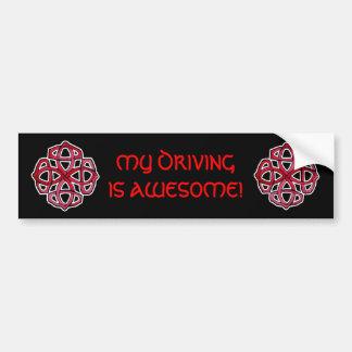 Red Celtic Knotwork Circle Car Bumper Sticker