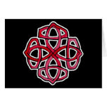 Red Celtic Knotwork Circle Card