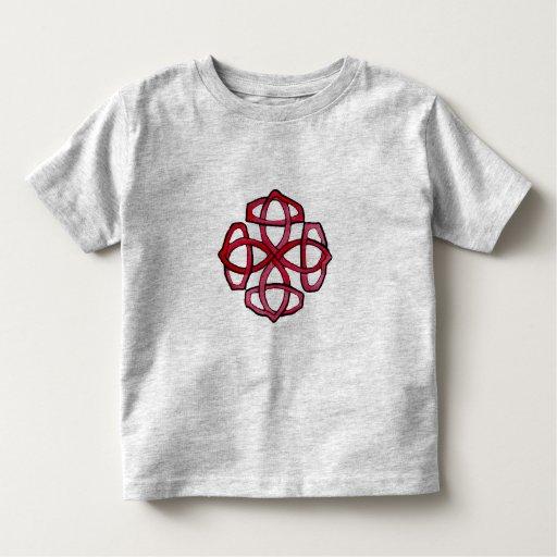 Red Celtic Knotwork Circle Toddler T-shirt
