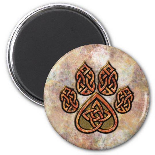 Red Celtic Pawprint Magnet