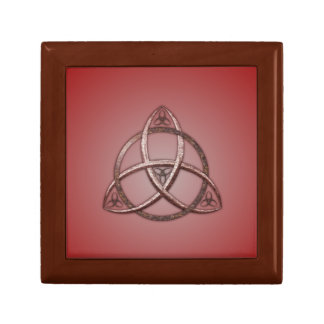 Red Celtic Trinity Knot Gift Box