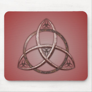 Red Celtic Trinity Knot Mouse Pad