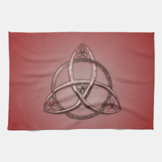 Red Celtic Trinity Knot Towel