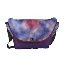 Red Center Nebulous Messenger Bag