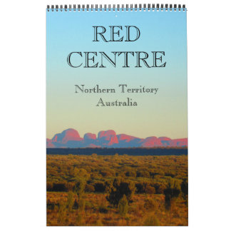 red centre australia 2018 calendar