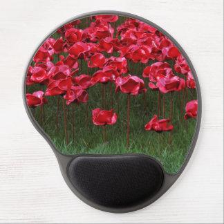 Red Ceramic Poppies Gel Mousepad