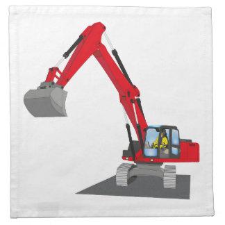 red chain excavator cloth napkin