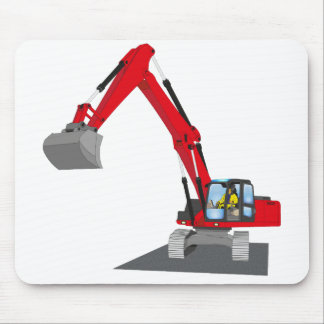 red chain excavator mouse pad