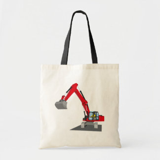 red chain excavator tote bag