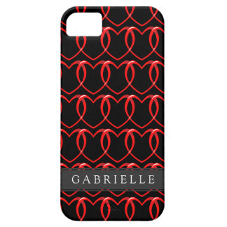 Red Chain Hearts Pattern iPhone SE/5/5s Case