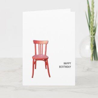 Red Chair Birthday Card card