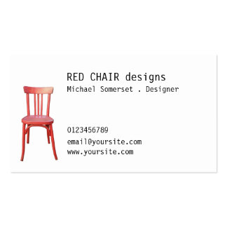 Red Chair Business Card