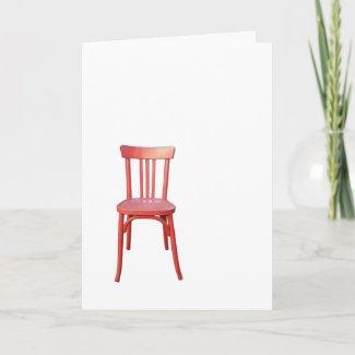Red Chair Card card