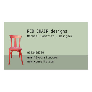 Red Chair green Business Card