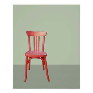 Red Chair green Poster