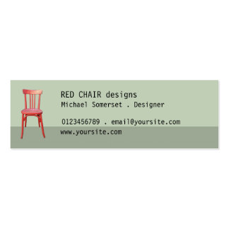 Red Chair green small Business Card