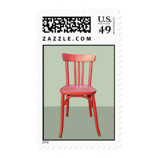 Red Chair green Stamp