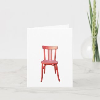 Red Chair Note Card card
