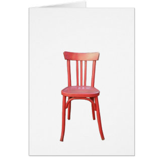Red Chair Note Card