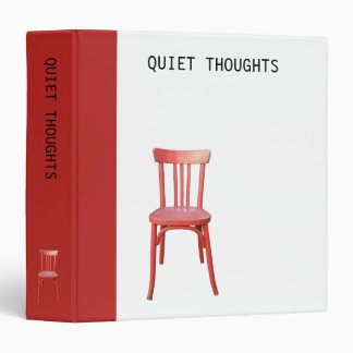 Red Chair Quiet Thoughts Binder