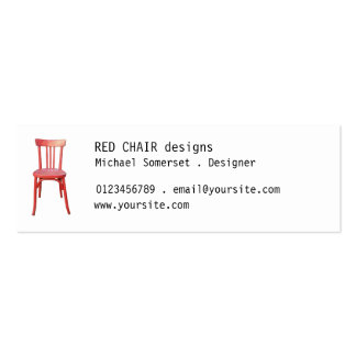 Red Chair small Business Card