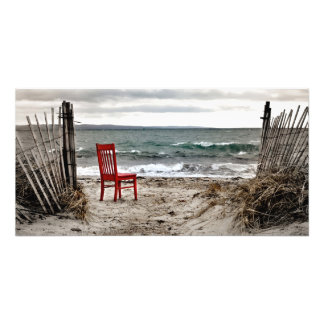 Red Chair Travels Photo Print
