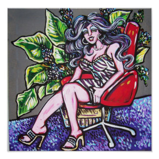 red chair zebra diva posters