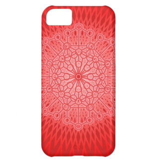 Red Chakra Mandala Sacred Geometry iPhone 5C Case