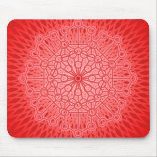 Red Chakra Mandala Sacred Geometry Mouse Pads