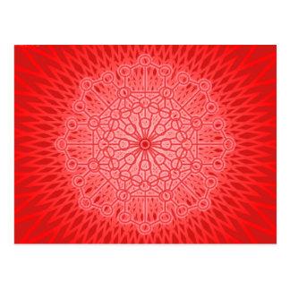 Red Chakra Mandala Sacred Geometry Postcard