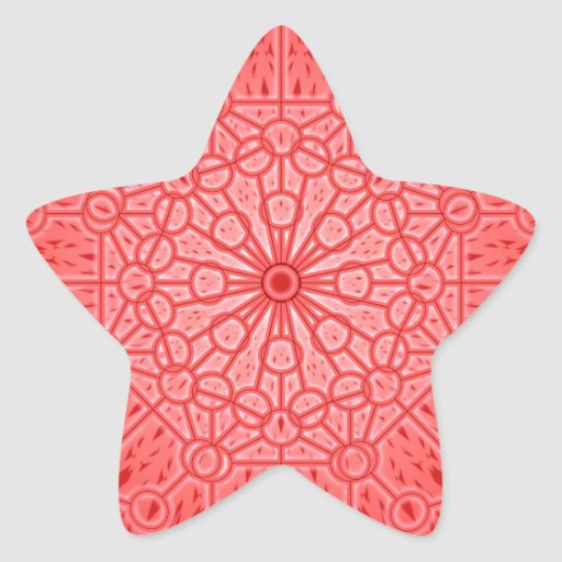 Red Chakra Mandala Sacred Geometry Star Stickers