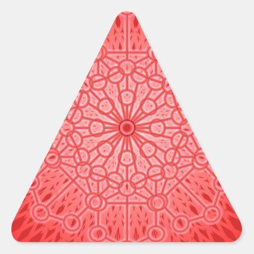 Red Chakra Mandala Sacred Geometry Stickers