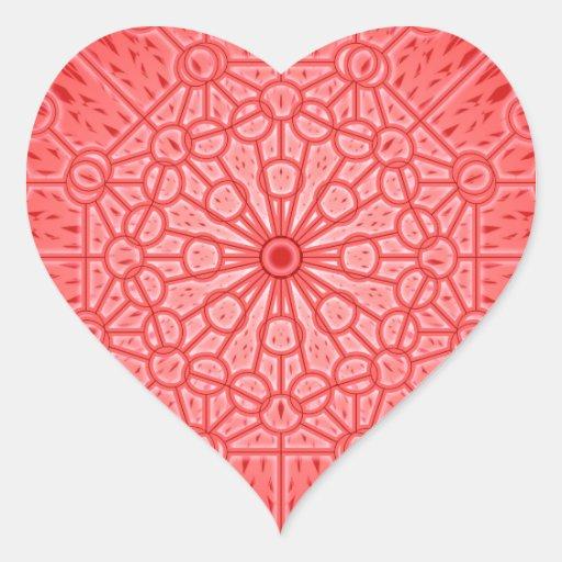 Red Chakra Mandala Sacred Geometry Heart Sticker
