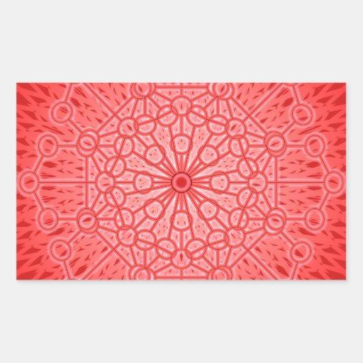 Red Chakra Mandala Sacred Geometry Sticker