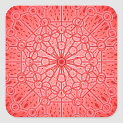 Red Chakra Mandala Sacred Geometry Square Sticker