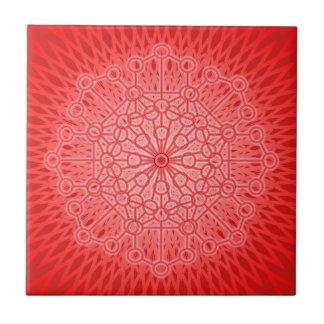 Red Chakra Mandala Sacred Geometry Tiles