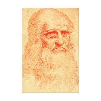 Red chalk self portrait of Leonardo da Vinci Canvas Print