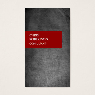 Red Chalkboard Gray Attractive Business Card